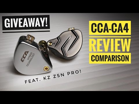 CCA CA4 Review & Comparison + GIVEAWAY! Feat KZ ZSN PRO | Indonesia