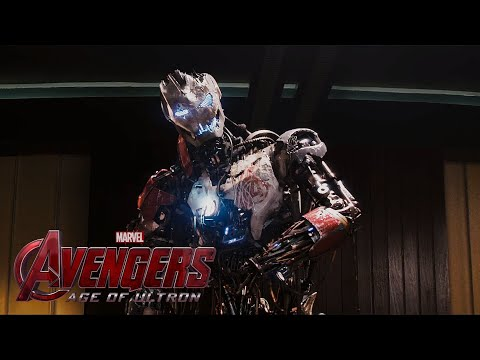 The Avengers:Age of Ultron - Ultron attacks The Avengers HD