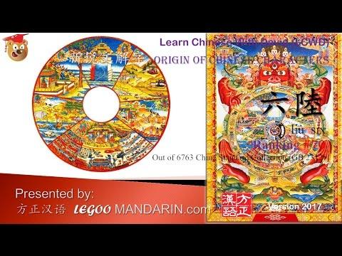 Origin of Chinese Characters - 0070 六陸 liù six - 六道, ṣaḍgatīḥ, six states of life, six realms of existence, Six Paths