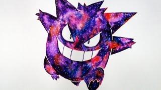 ... Gengar Efecto Galaxia | Pokemon | Muy Fácil | ArteMaster | Halloween