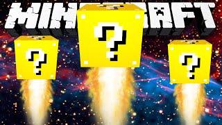 Minecraft Modded Minigame: 20 LAYER LUCKY BLOCK SPLEEF IN SPACE! - w/Preston&Friends!