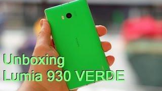 Unboxing e Hands-on do Lumia 930 verde de fábrica!