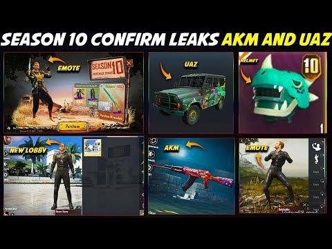SEASON 10 ROYAL PASS LATEST CONFIRM LEAKS | GET AKM GUN SKIN AND UAZ CAR SKIN