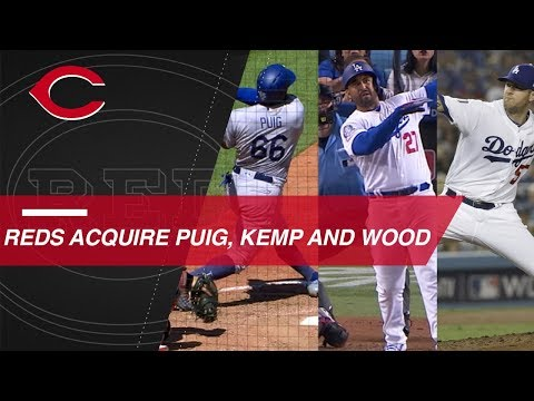 Video: Reds acquire Yasiel Puig, Matt Kemp, Alex Wood and Kyle Farmer
