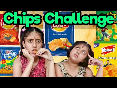 GUESS THE CHIPS CHALLENGE | Chips Eating Competition | Chips Challenge | Saanvi's Wonderland