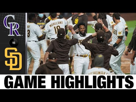 Profar walks it off in the 9th for 1-0 win | Rockies-Padres Game Highlights 9/7/20