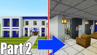 "Minecraft Tutorial: How To Make A Police Station Part 2 ""2019 City Tutorial"""