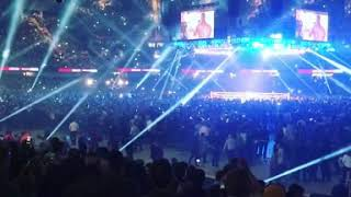 Anthony Joshua vs Carlos Takam Crowd warm up song- October 28 2017 Cardiff UK