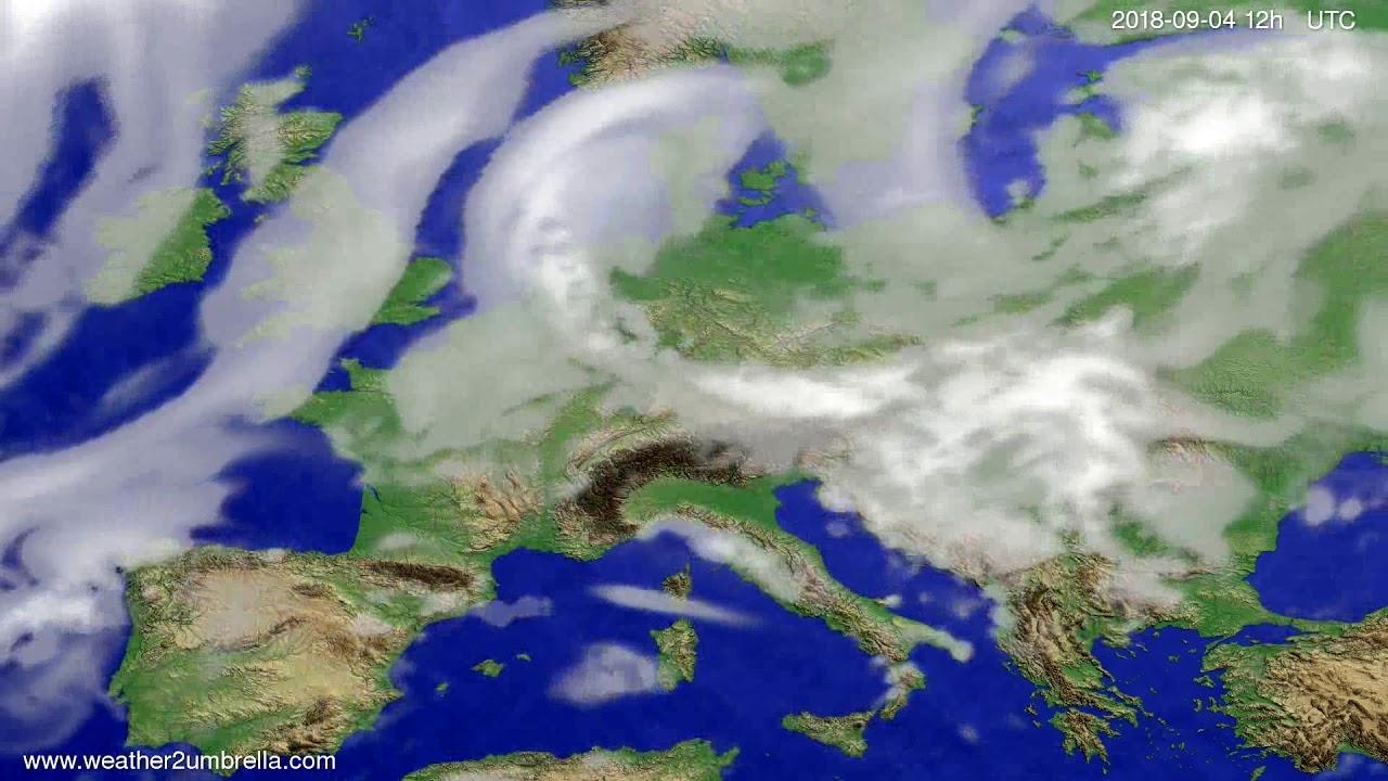 Cloud forecast Europe 2018-09-02