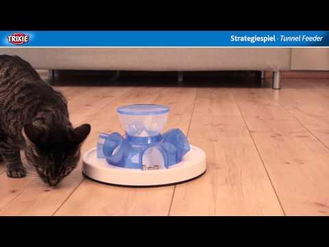 Gamelle et jeu Trixie Cat Activity Tunnel Feeder pour chat