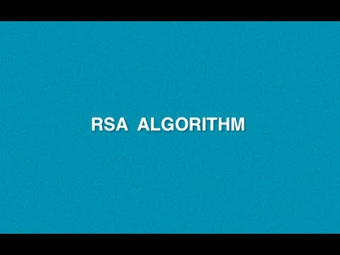 RSA Algorithm  Example  |Cryptography Security