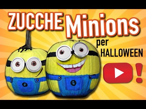 halloween 2015: zucca minions tutorial!