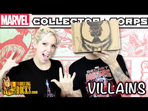 Marvel Collector Corps VILLAINS (October 2015) Unboxing Review