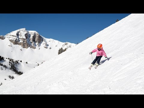 5-year-old rips Jackson Hole.