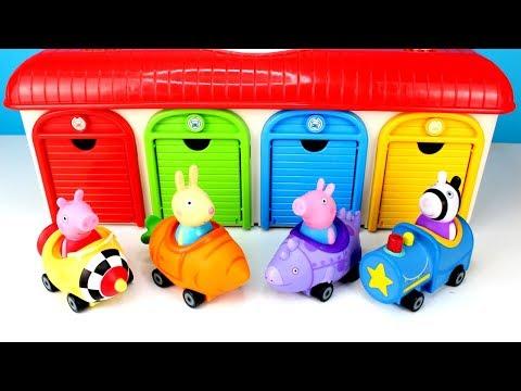 Peppa Pig Free Wheelin With Tayo Garage Toys & Peppa Pig Royal Family Kinetic Sand Learn Colors