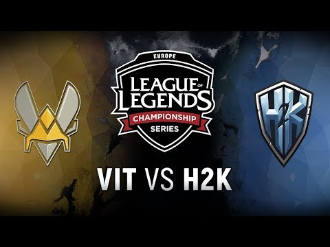 VIT vs. H2K - Quarterfinals Game 1   EU LCS Spring Playoffs   Team Vitality vs. H2k-Gaming (2018)