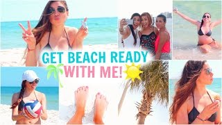 Get Beach Ready With Me! Summer Essentials, Makeup, Hair, Outfit, & Things To Do! - YouTube