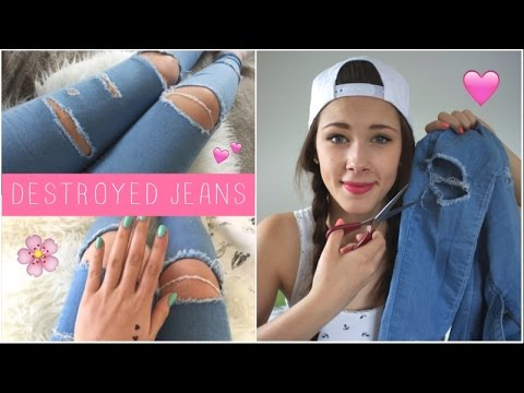 DIY Destroyed Jeans / Ripped Jeans selber machen
