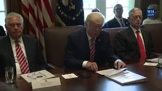 Video President Trump Leads a Cabinet Meeting MP3, 3GP, MP4, WEBM, AVI, FLV April 2018