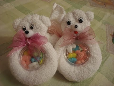 animales de toalla - Para este 14 de Febrero regala este bonito osito, hecho por ustedes mismos. Muy fácil de hacer..