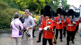 Troop Of Queen's Guards Slam Into Confused Tourist