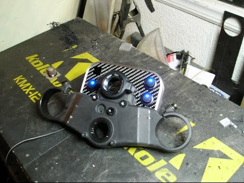 custom motorcycle dash for switches led's etc