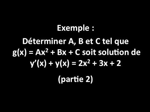 comment trouver b dans ax2 bx c