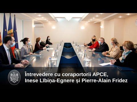 Președintele Maia Sandu s- a întâlnit cu coraportorii Comisiei de monitorizare a APCE