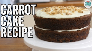 EASY CARROT CAKE RECIPE by  My Virgin Kitchen