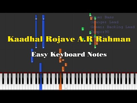 Kaadhal Rojave (Roja Janeman) - A.R.Rahman Easy Keyboard Notes