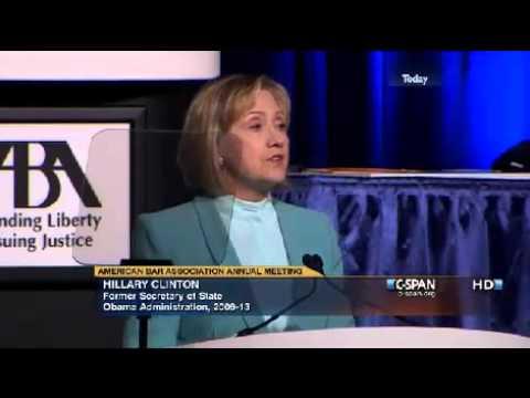 Hillary Rodham Clinton at the American Bar Association (ABA) [HQ]