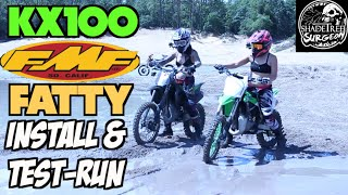 3. KX100 FmF Fatty Install How-to and Test Run | Project Needle