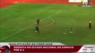 But de NJIVA à l'extérieur lors du 2ème tour, match retour à l'extérieur Mozambique vs Madagascar. CHAN KENYA 2018.