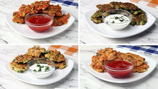 Veggie Fritters 4 Ways by Tasty
