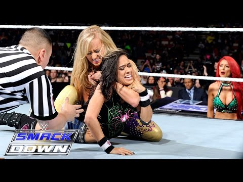 AJ Lee & Paige vs. Summer Rae & Cameron: SmackDown, March 12, 2015