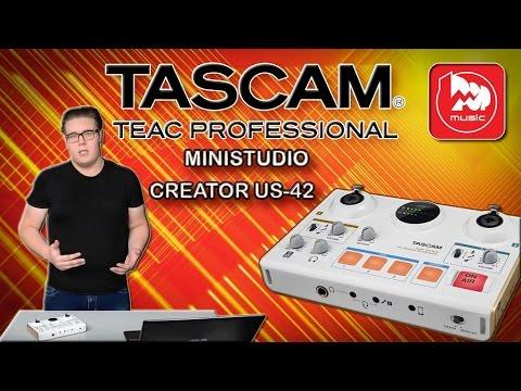 TASCAM MINISTUDIO CREATOR US-42 - звуковая карта/микшер для блоггеров