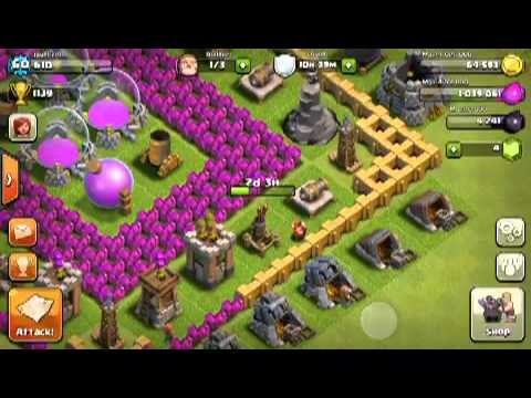 Clash Of Clans: Town Hall Level 9 Farming | NUZH6O8VAlI