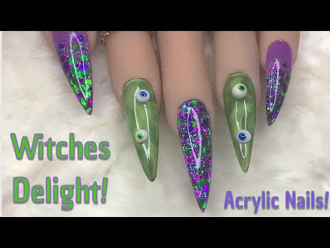 Witches Delight  Acrylic Nails  Halloween  Nail Sugar