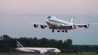 Warsaw (IN) United States  city photo : United States Air Force - Boeing E-4B landing at Warsaw Chopin Airport [NATO Summit 2016]
