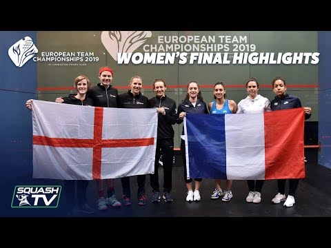 Squash: France v England - European Team Championships -  Women's Final Highlights