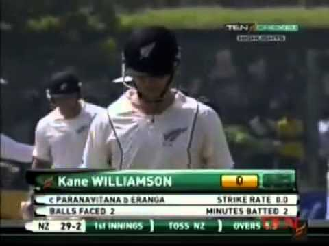 Srilanka vs Newzealand 1st Test Day 1 2012 Highlights Part 1/3 (17 November)