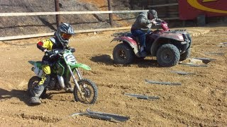 5. Kawasaki KX65 Kid Racing Grandpa