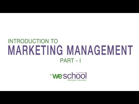 marketing - Clear your marketing management basic concepts through this video Lecture on Introduction to Marketing Management : http://bit.ly/Y1BAo6 In this part, we wil...