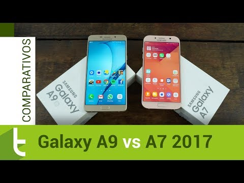 Comparativo: Galaxy A9 vs A7 2017  Review do TudoCelular