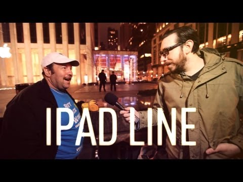 Joshua Topolsky - Josh almost gets stabbed as he trolls the iPad line at the flagship Apple Store in New York City. Watch the full episode at http://on.theverge.com Subscribe ...