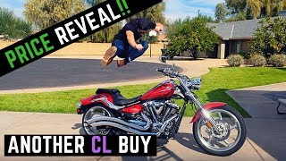 3. See What I Paid: 2009 Yamaha Raider S 1900 + Walk Around, Cold Start Review Cobra Side Swept Exhaust
