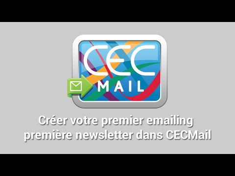 Créer votre premier emailing ou première newsletter