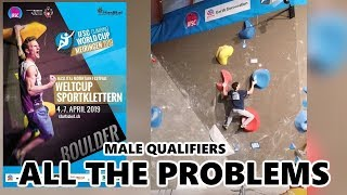 Male Qualification Problems | Meiringen 2019 Bouldering World Cup by OnBouldering