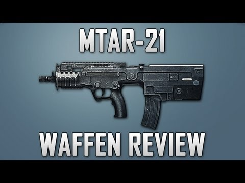 Waffen - P90 Waffen Review: http://www.youtube.com/watch?v=QnE6BusSQ7k  MTAR-21 nennt sich das gute Stck. Ich habe diese Waffe schon eine Zeit nicht mehr gespielt...