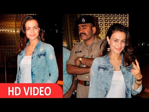 Ameesha Patel Spotted At International Airport For iifa Awards
